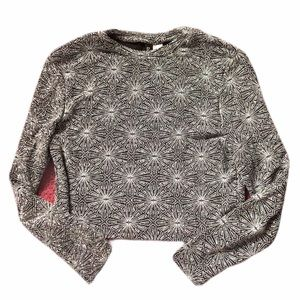H&M Divided Sparkly Long Sleeve Crop Top